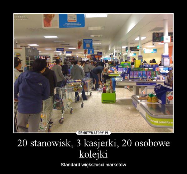 Kolejka w sklepie - demotywator